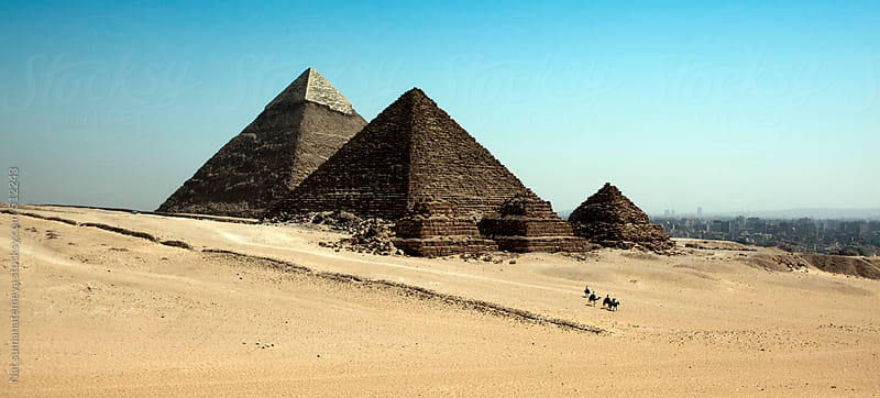 Great pyramid of Giza by Nat sumanatemeya for Stocksy United