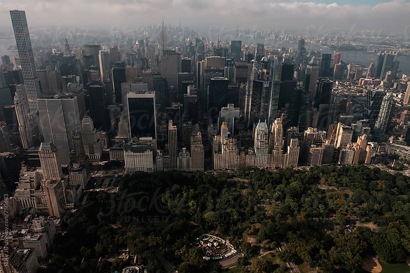 Above Central Park Looking South to Mid-town by Riley J.B. for Stocksy United