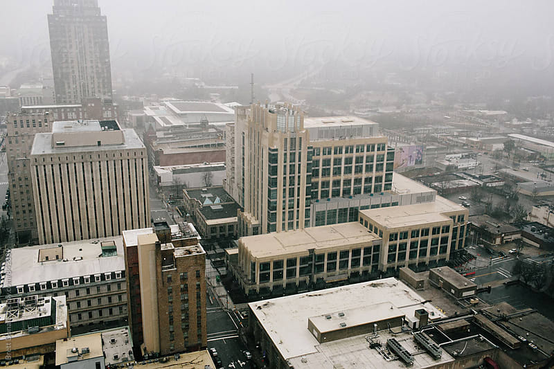 Foggy Downtown Raleigh by Brett Donar for Stocksy United