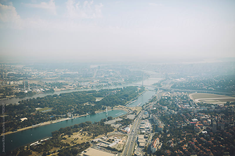 Belgrade city from a plane by Jovana Rikalo for Stocksy United