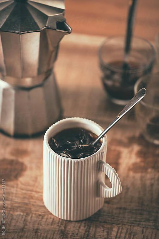 Iced coffee.  by BONNINSTUDIO for Stocksy United