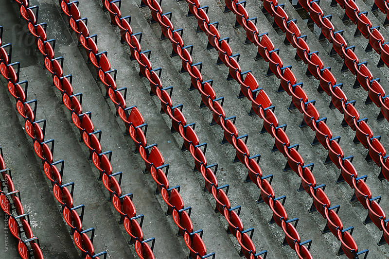 Empty Stadium Seats by Raymond Forbes LLC for Stocksy United