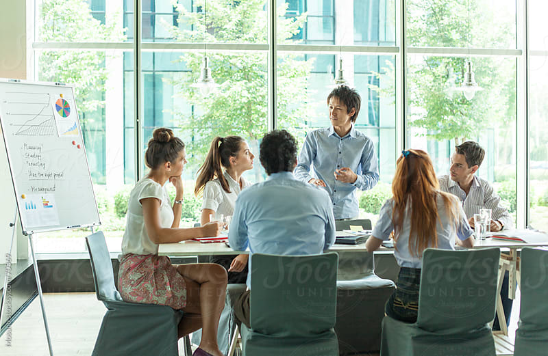 People in a Business Meeting by Mosuno for Stocksy United