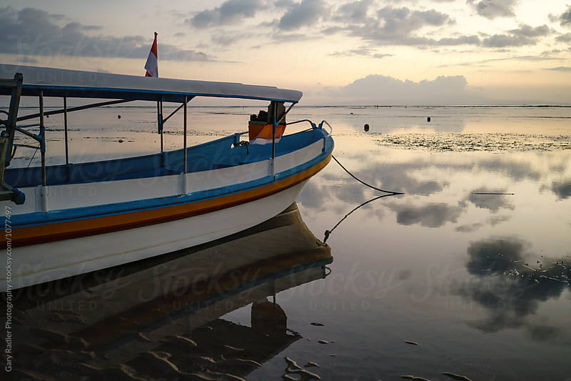 Bow End of a Bali Pleasure Boat Moored at Sanur by Gary Radler Photography for Stocksy United