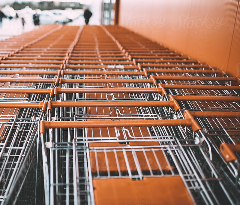 shopping carts by Koki Jovanovic for Stocksy United