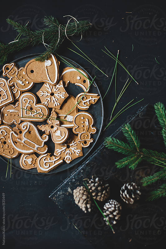 Christmas tree ornament cookies by Natasa Kukic for Stocksy United