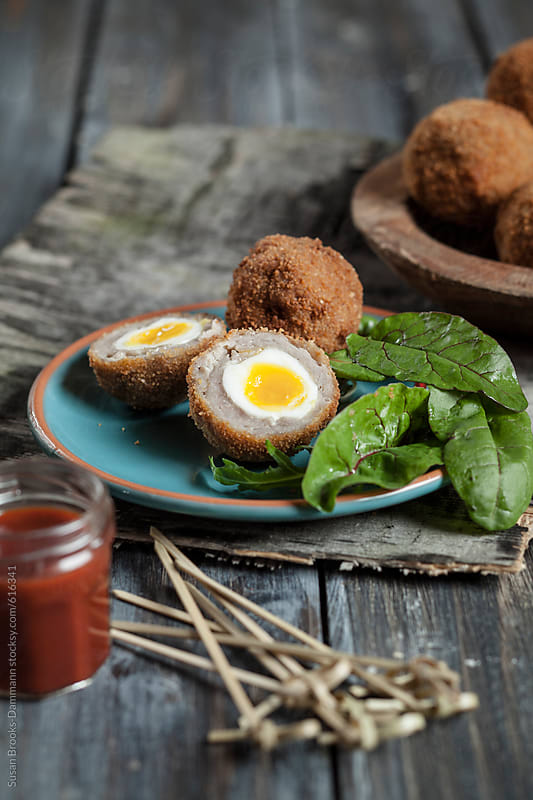 Scotch eggs by Susan Brooks-Dammann for Stocksy United