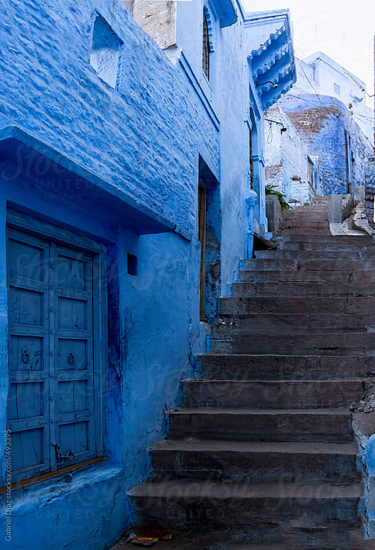 Streets in Jodhpur, the blue city. India. by Gabriel Diaz for Stocksy United