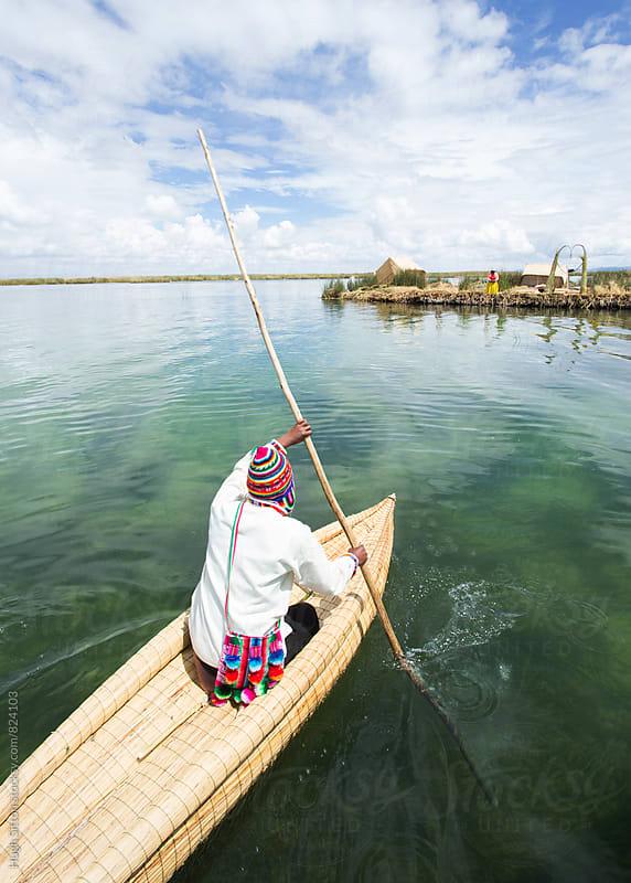 Floating Islands of Lake Titicaca. Peru by Hugh Sitton for Stocksy United