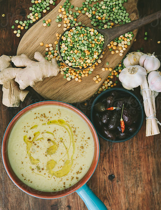 Baisara, Split pea soup by kkgas for Stocksy United