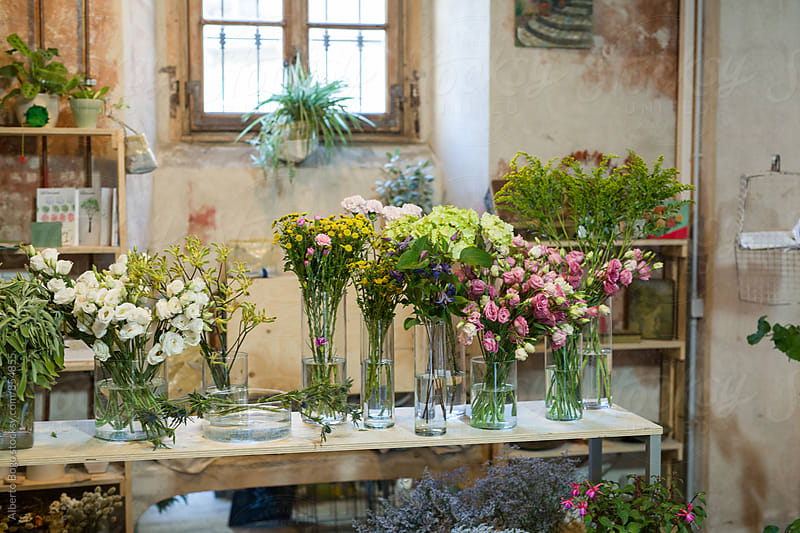 Flower shop by Alberto Bogo for Stocksy United