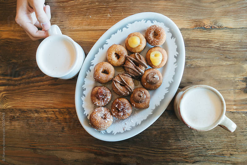 Delicious Mini Doughnuts by B. Harvey for Stocksy United