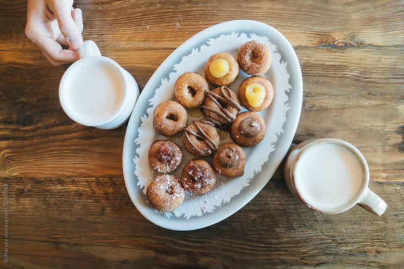 Delicious Mini Doughnuts by B. Harvey for Stocksy United