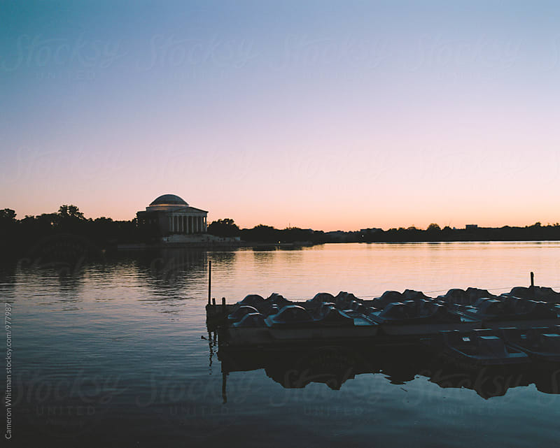Jefferson Memorial and the Tidal Basin at Twilight by Cameron Whitman for Stocksy United