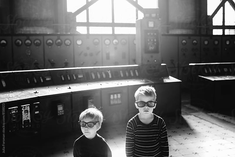 Kids in black. by Julia Forsman for Stocksy United