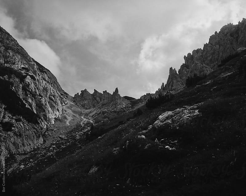 Pointy mountain by Bor Cvetko for Stocksy United