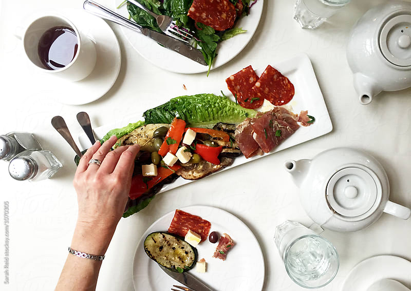 Antipasto Lunch by Sarah Reid for Stocksy United