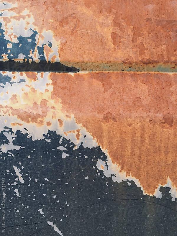 Detail of rusty metal car door on old pickup truck by Paul Edmondson for Stocksy United