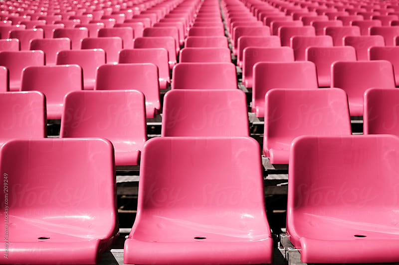 pink seats by Alexey Kuzma for Stocksy United