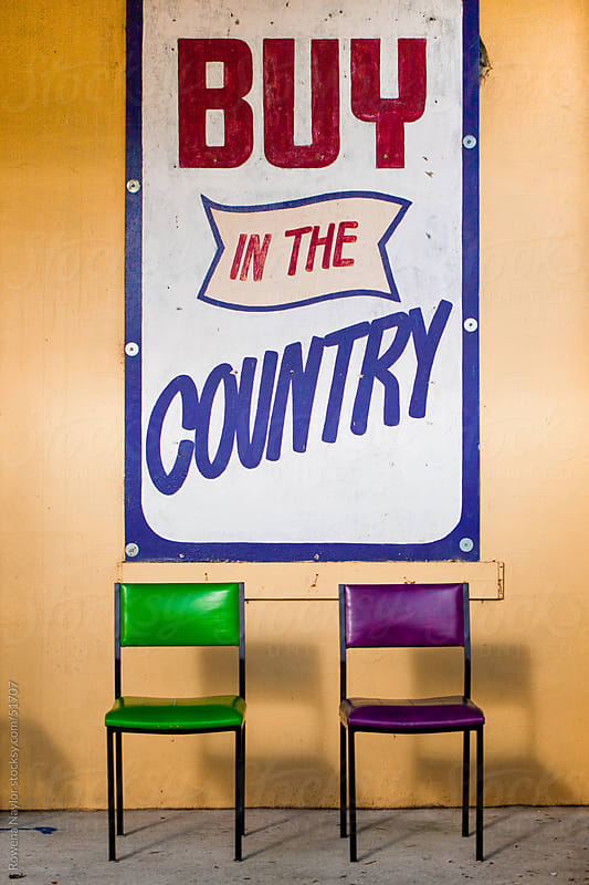 Buy In The Country Retro Sign by Rowena Naylor for Stocksy United
