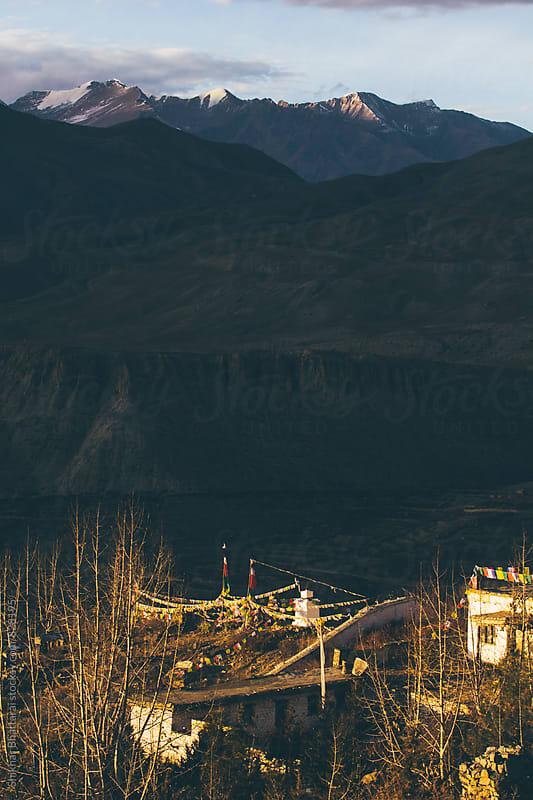 A village in the himalayas. by Shikhar Bhattarai for Stocksy United