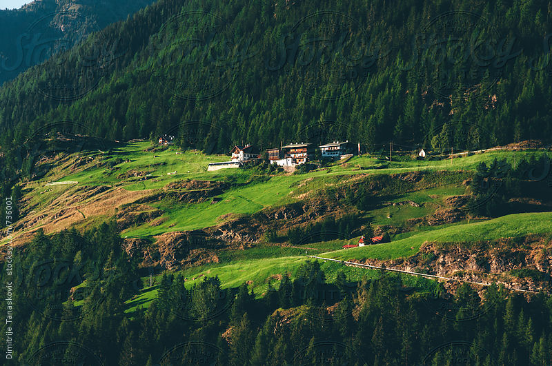 Alpine village in Austrian Alps by Dimitrije Tanaskovic for Stocksy United
