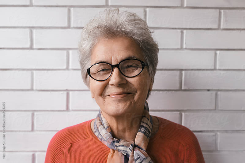 Beautiful Grandma With Short Grey Hair by Nemanja Glumac for Stocksy United