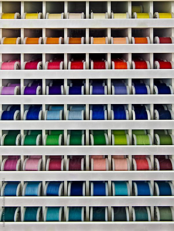 Different color yarn rolls by Melanie Kintz for Stocksy United