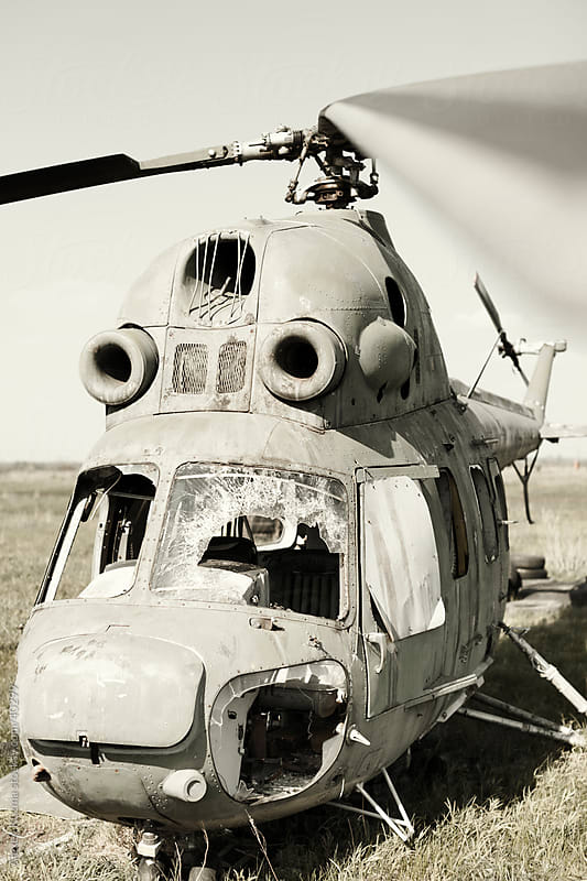 old helicopter by Alexey Kuzma for Stocksy United