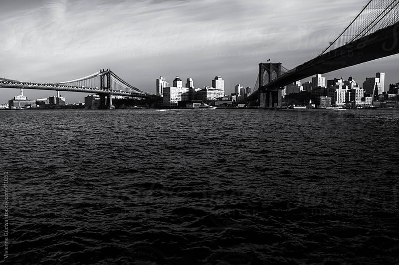 Brooklyn Bridge and Manhattan Bridge by Vivienne Gucwa for Stocksy United