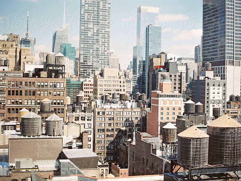 New York Rooftops  by Vicki Grafton Photography for Stocksy United