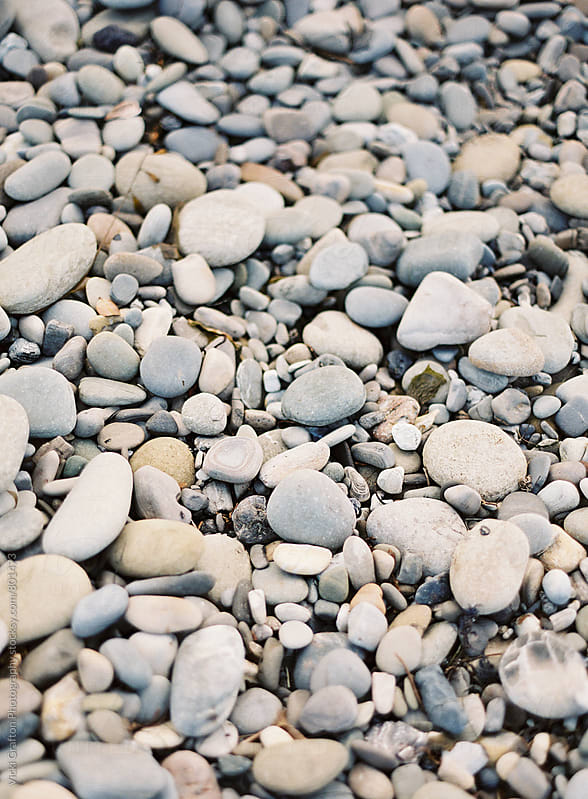Pebble Beach Stones  by Vicki Grafton Photography for Stocksy United