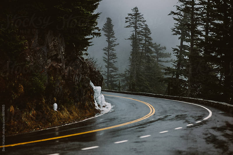Foggy Mountain Road. by Benj Haisch for Stocksy United