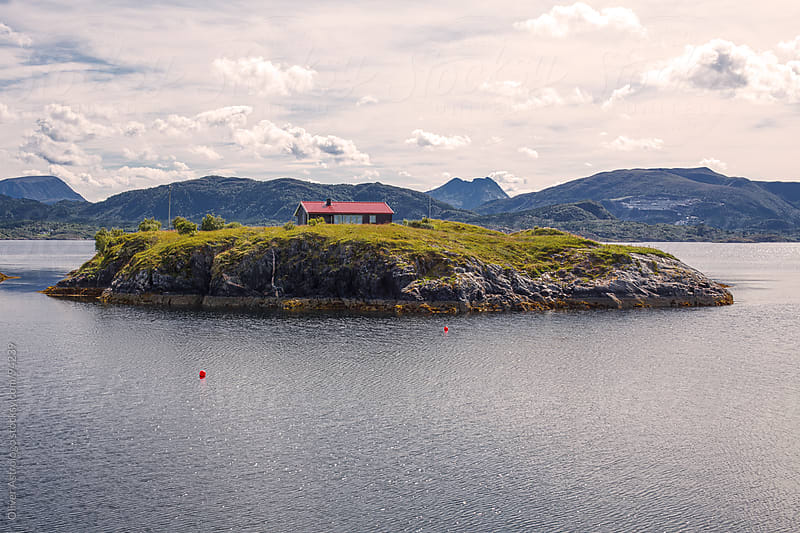 The house on the fjord by Oliver Astrologo for Stocksy United