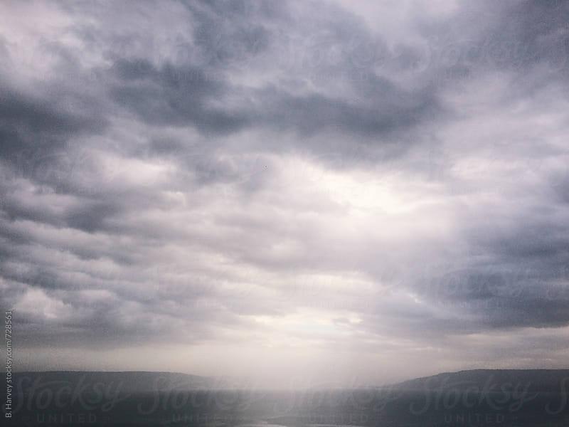 Beautiful Rain & Light Over Sea by B. Harvey for Stocksy United