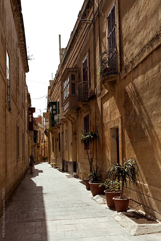 Street in Mdina, Malta by MEM Studio for Stocksy United