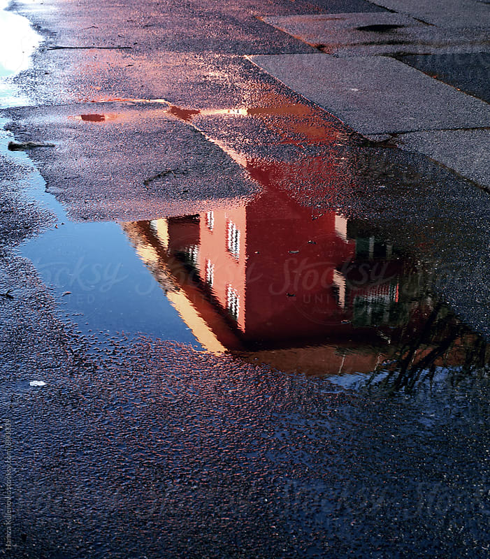 Colorful reflection after rain by Hamza Kulenović for Stocksy United
