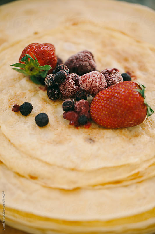Fruit Topped Pancakes by Lumina for Stocksy United