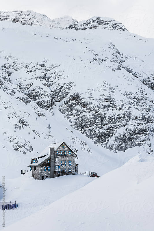 Chalet on mountains by Mauro Grigollo for Stocksy United