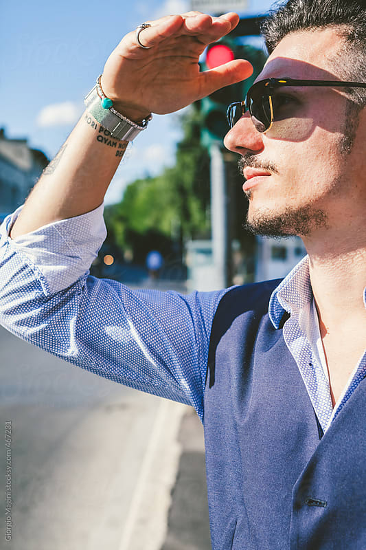 Young Trendy Commuter in a Modern City by Giorgio Magini for Stocksy United