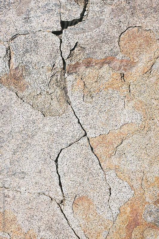 Close up of worn granite rock, High Sierra, CA by Paul Edmondson for Stocksy United