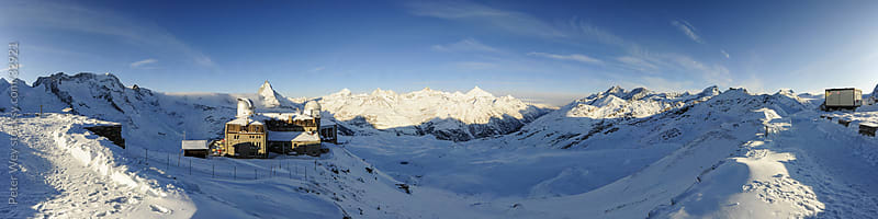 Mountain panorama from Gornergrat with Matterhorn above Zermatt by Peter Wey for Stocksy United