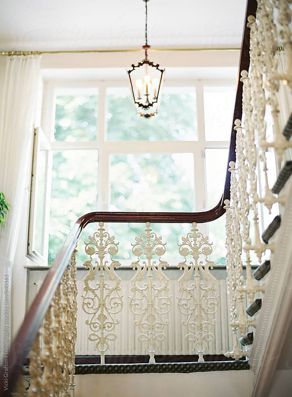 Intricate Stair Rail in Bonn Germany  by Vicki Grafton Photography for Stocksy United