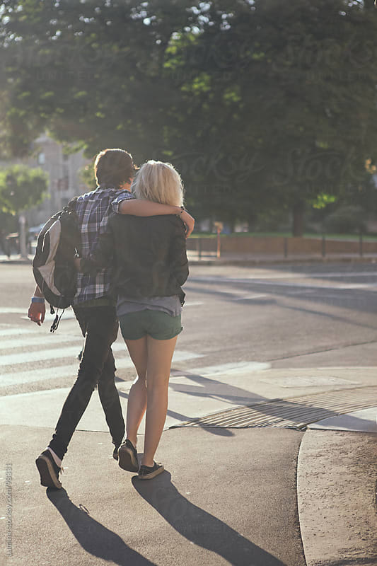 Teenage Couple on the Street by Lumina for Stocksy United