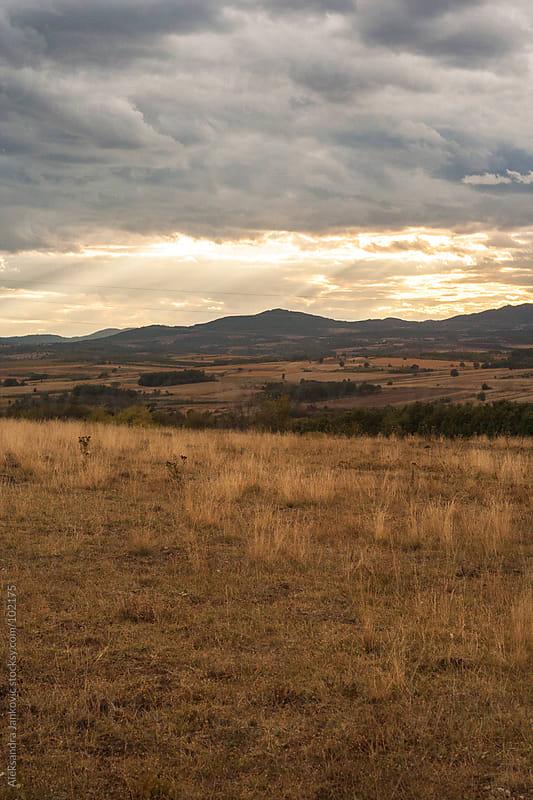 Beautiful countryside landscape by Aleksandra Jankovic for Stocksy United