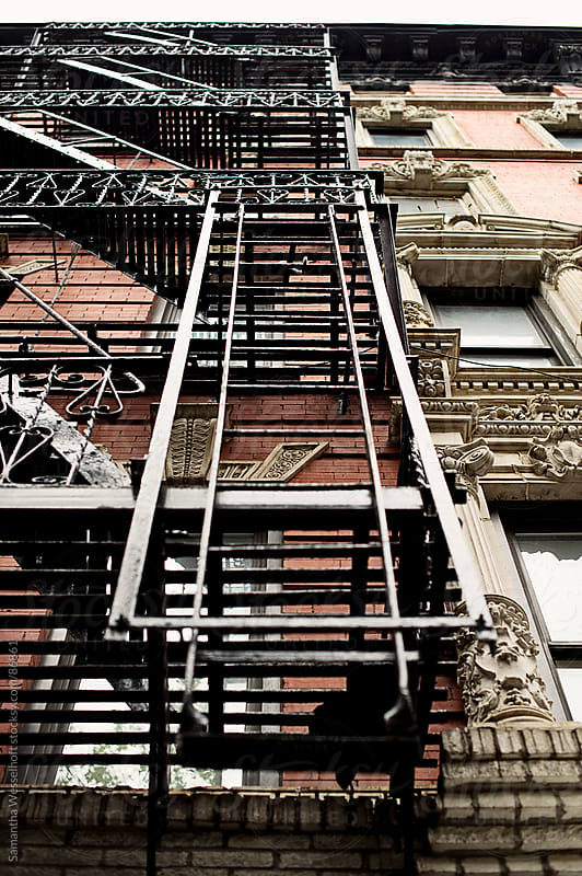 city fire escape by Samantha Wesselhoft for Stocksy United