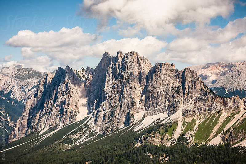 Italian Dolomites Landscape, Rocky Mountains during Summer by Giorgio Magini for Stocksy United