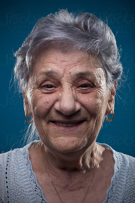 Happy senior woman by Branislav Jovanović for Stocksy United