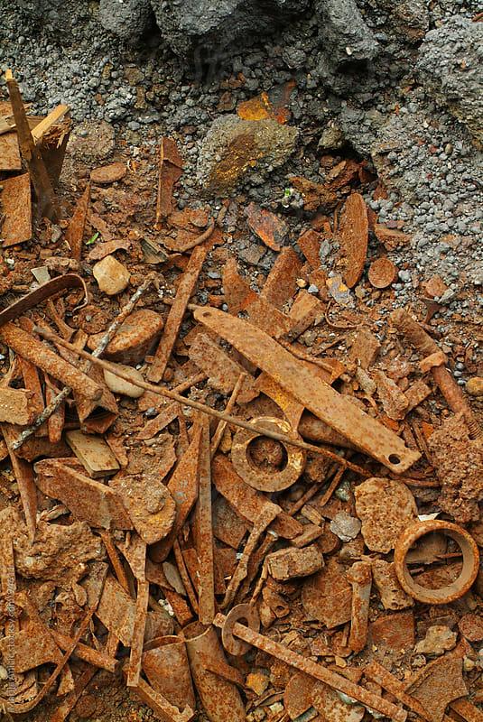 rusty screws  by Marija Anicic for Stocksy United