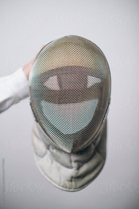 Fencing mask by Danil Nevsky for Stocksy United